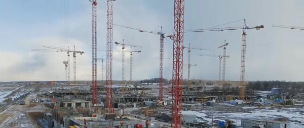 Панорамная съемка ЖК «Пригород.Лесное» от 22.03.2016г