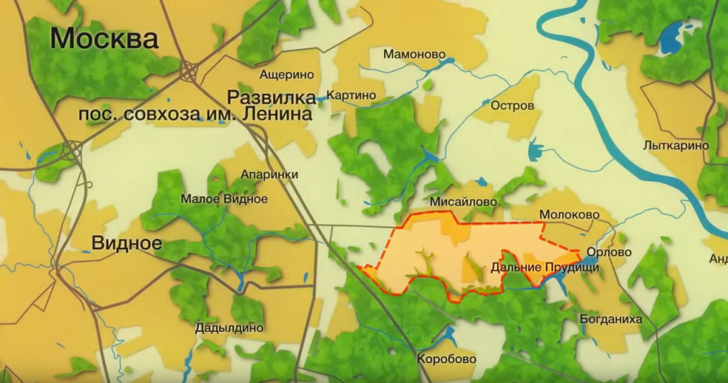 Карта Пригород Лесное