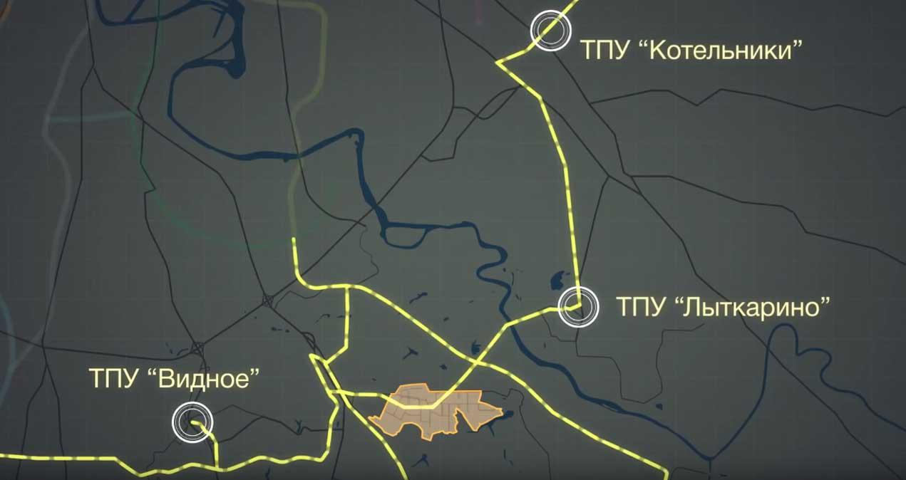 Пригород Лесное - Расположение ТПУ скоростного трамвая